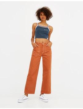 Oranje Carpenter Jeans by Pull & Bear