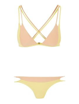Colour Block Triangle Bikini Set by Topshop
