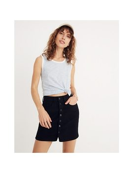Button Front Straight Jean Skirt In Black Frost by Madewell