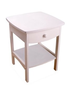 Winsome Wood End Table/Night Stand With Drawer And Shelf, White by Amazon