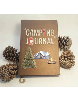 Camping Journal/ Rv Journal Or Scrapbook 11 With Tent   Great Personalized Gift! by Etsy