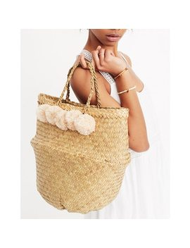 Xinh & Co. Large Pom Pom Basket Tote by Madewell