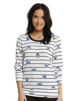 Disney Lilo & Stitch Striped Peek A Boo Girls Sweater by Hot Topic