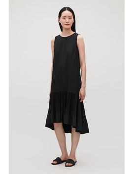 Pleated Sleeveless Dress by Cos