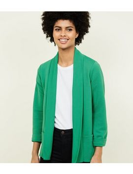 Cameo Rose Green Ribbed Jacket by New Look