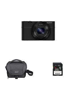 Sony Dsc Rx100/B 20.2 Mp Exmor Cmos Sensor Digital Camera + Sony Lcsu11 Camera Bag + Sony 32 Gb Memory Card by Sony