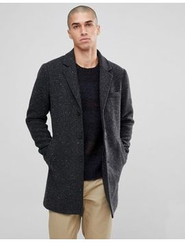Only & Sons Salt And Pepper Overcoat by Only & Sons