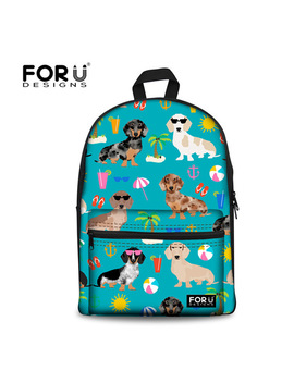 Forudesigns Backpack Women Dachshund Dog Print Laptop Backpacks Teenager Girls Daily Daypack Fashion Collage Book Rucksack Bolsa by Forudesigns