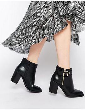 Miss Kg – Janelle – Ankle Boots Mit Schnalle Und Absatz by Miss Kg