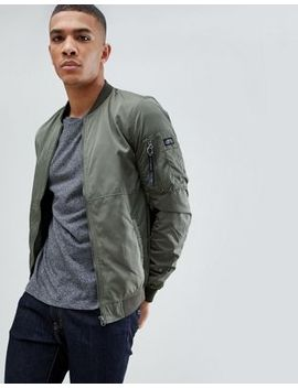 Pull&Bear Bomber Jacket In Green by Pull&Bear