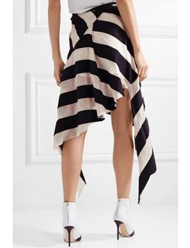 Asymmetric Striped Cotton And Silk Blend Gauze Midi Skirt by Marques' Almeida