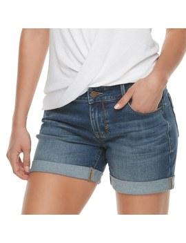 Women's Apt. 9® Cuffed Jean Shorts by Apt. 9