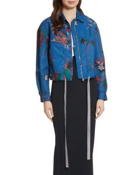 Floral Bomber Jacket by Diane Von Furstenberg