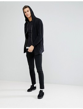 Only & Sons Longline T Shirt In Pique With Faux Layer by Only & Sons