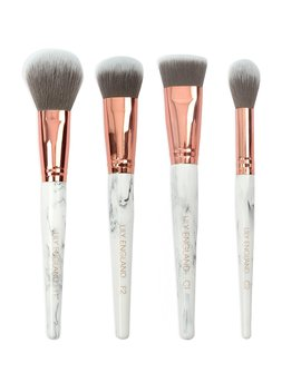 Lily England Makeup Brush Set   Powder, Foundation, Highlighter And Contour Kabuki Cruelty Free Make Up Brushes — Marble & Rose Gold by Amazon