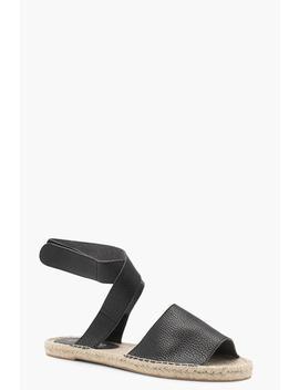Caroline Ankle Wrap Flat Mule Espadrilles by Boohoo