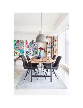 Aurelle Home Lotte Large Dining Pendant Lamp Silver by Aurelle Home