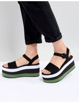 Pull&Bear Flatform Sandal In Color Block by Pull&Bear
