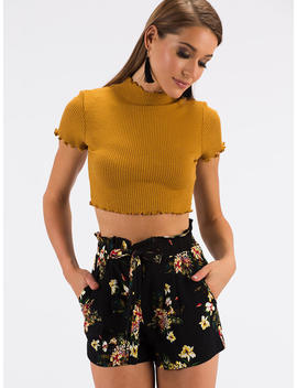 Every Day Lettuce Edged Crop Top by Go Jane