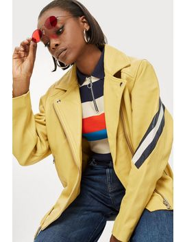 Yellow Leather Jacket by Topshop