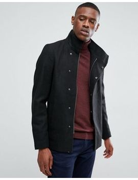 Only & Sons Asymmetric Wool Overcoat by Only & Sons