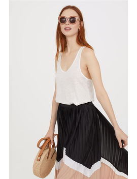 Linen Jersey Tank Top by H&M