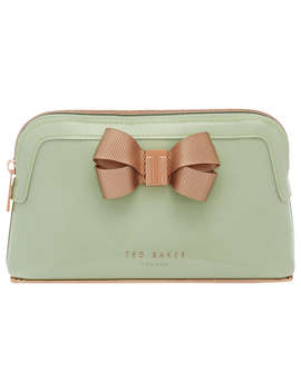 Ted Baker Lezlie Bow Makeup Bag, Olive by Ted Baker