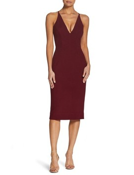 Lyla Crepe Sheath Dress by Dress The Population
