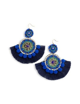 Bohemian Beaded Statement Earrings by Mad Jewels