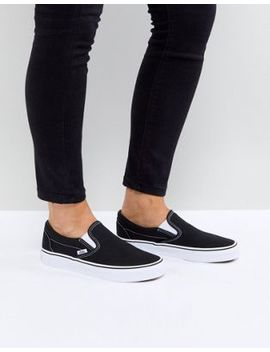 Vans – Klassische Sneaker Zum Hineinschlüpfen In Schwarz Und Weiß by Vans