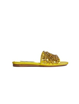 Abbey Jeweled Slide Sandal by Alice And Olivia