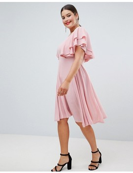 Boohoo Plus Angel Sleeve Midi Dress by Boohoo