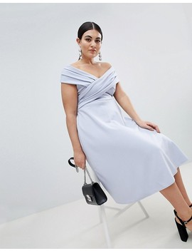 Boohoo Plus Bardot Midi Dress by Boohoo