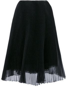 Black Silk Pleated Skirthome Women Clothing Pleated Skirtsplatform Sneakerscactus Print Short Sleeve Sweatshirt Black Silk Pleated Skirt by Prada
