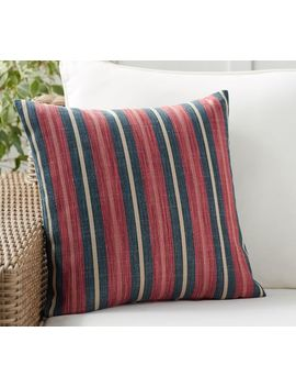 Seger Yarn Dyed Stripe Indoor/Outdoor Pillow by Pottery Barn