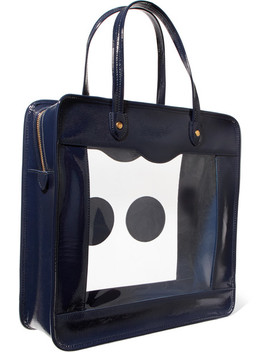 Rainy Day Appliquéd Perspex And Patent Leather Tote by Anya Hindmarch
