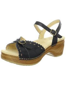 Sanita Women's Dawn Platform Heels Sandals   Black & Brown by Sanita