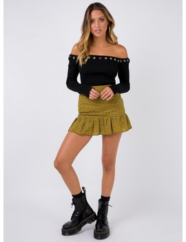 True Colours Mini Skirt Yellow by Princess Polly