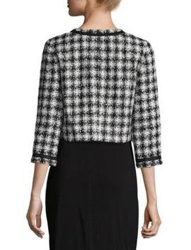 Houndstooth Tweed Jacket by Karl Lagerfeld Paris