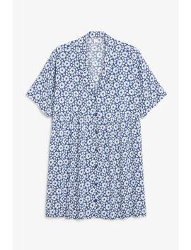 V Neck Shirt Dress by Monki