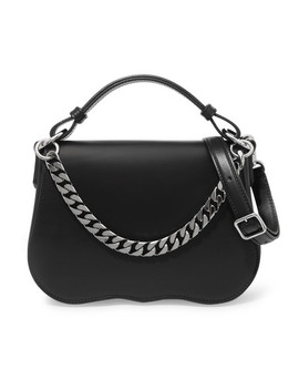 Chain Trimmed Leather Shoulder Bag by Calvin Klein 205 W39 Nyc