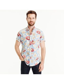 Short Sleeve Shirt In Light Blue Floral Print by J.Crew