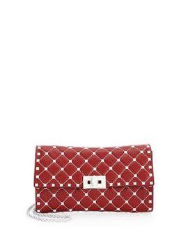 Free Rockstud Leather Shoulder Bag by Valentino Garavani