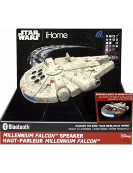 Star Wars Milenium Falcon Portable Bluetooth Speaker   Gray by E Kids