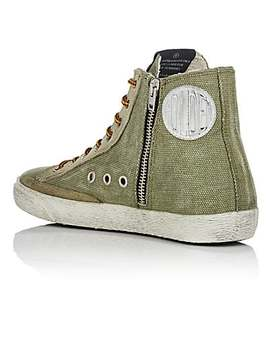 Women's Francy Canvas &Amp; Suede Sneakers by Golden Goose