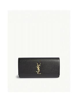 Cassandre Leather Clutch by Saint Laurent