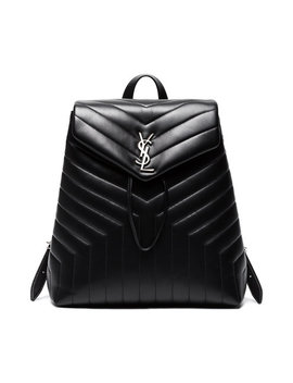 Lou Lou Matelassé Leather Backpackhome Women Bags Backpacks by Saint Laurent