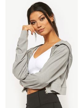 Active Cropped Zip Front Hoodie by Forever 21