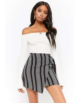 Striped Wrap Mini Skirt by Forever 21
