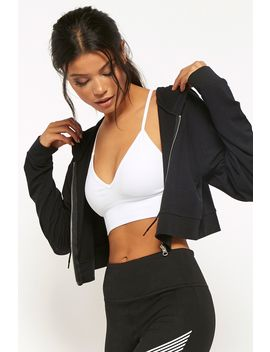 Active Cropped Zip Up Hoodie by Forever 21